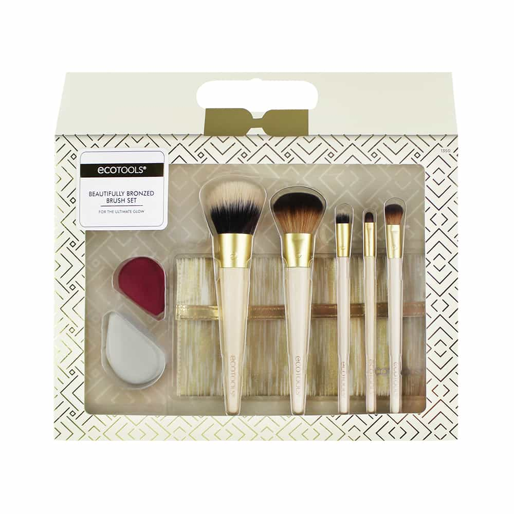 1350 ECOTOOLS BEAUTIFULLY BRONZED BRUSH SET INFRONT  S